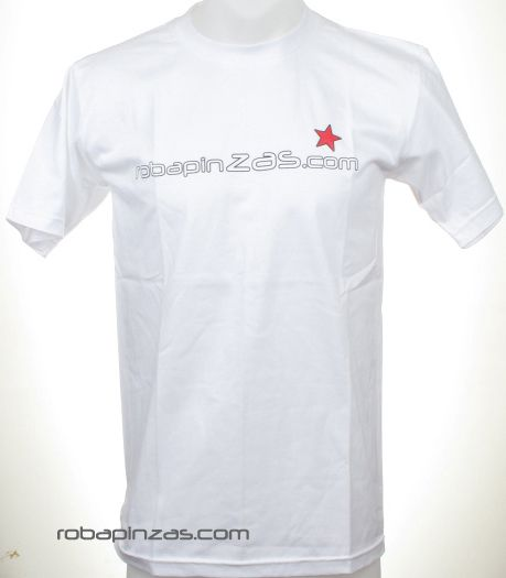 Robapinzas.com, camiseta algodón manga corta - Blanco Comprar al mayor o detalle