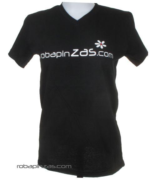 Robapinzas flor, camiseta algodón m corta cuello pico Comprar - Venta Mayorista y detalle