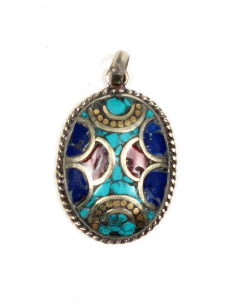Bisutería Tibetana - Colgante tIibetano piedras [COAT01] para comprar al por mayor o detalle  en la categoría de Bisutería Hippie Étnica Alternativa.