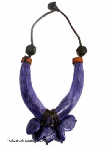 Collar tribal estilo africano, grande. Combinación de madera, Comprar - Venta Mayorista y detalle