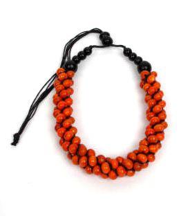 Collar multicolor, bolas de madera, es regulable. Comprar - Venta Mayorista y detalle