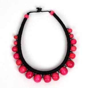 Collares Hippie Étnico - Collar redondo rígido de bolas de colores COBOU28 para comprar al por Mayor o Detalle en la categoría de Bisutería Hippie Étnica Alternativa