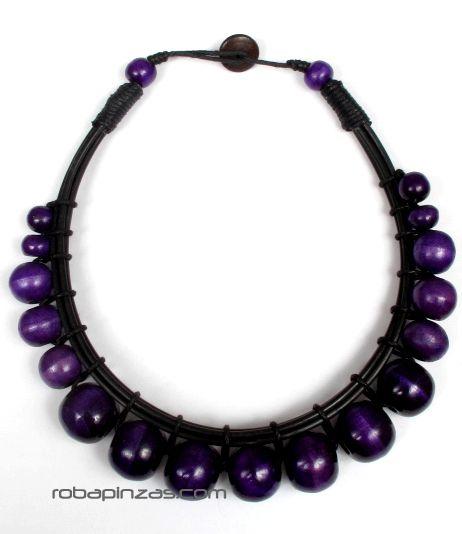 Collar redondo rígido de bolas de colores [COBOU28] para Comprar al mayor o detalle