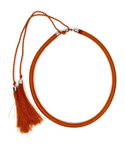 Outlet Bisutería hippie - collar grueso de hilo en colores COBOU34 - Modelo Marrón
