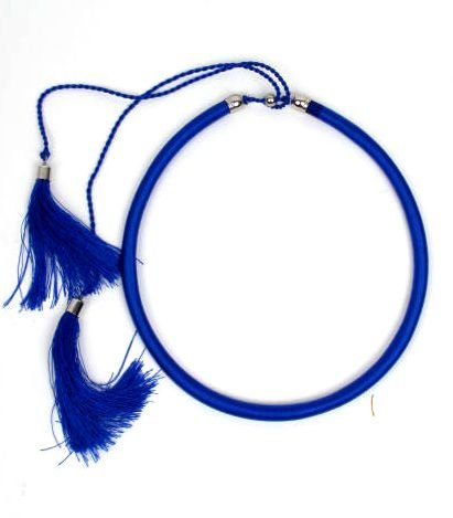 collar grueso de hilo en colores lisos y fosforescentes con cierre Comprar - Venta Mayorista y detalle
