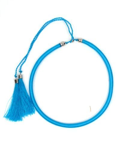 Collar grueso de hilo en colores lisos y fosforescentes con cierre [COBOU34] para Comprar al mayor o detalle
