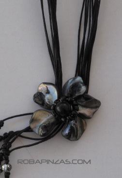 Collar conchas y madre perla en forma de flor, cordón de Comprar - Venta Mayorista y detalle