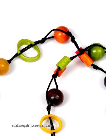 Collares Hippie Étnico - Collar largo de cuentas de madera y hueso de colores COFA01 para comprar al por Mayor o Detalle en la categoría de Bisutería Hippie Étnica Alternativa