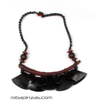 Outlet Bisutería hippie - Collar étnico de piezas de hueso de colores con cierre de botón [COFA03] para comprar al por mayor o detalle  en la categoría de Outlet Hippie Étnico Alternativo.