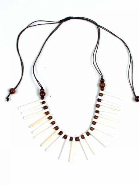 Collar Étnico redondo bastones hueso colores [COFA10] para Comprar al mayor o detalle
