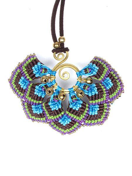 Collar colgante grande flor macrame Comprar - Venta Mayorista y detalle