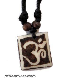 Collar de hueso decorado, cordón regulable Comprar - Venta Mayorista y detalle
