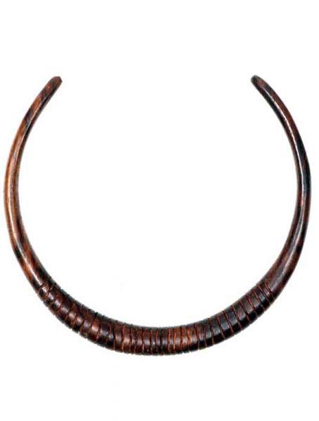 Collares Hippie Étnico - Collar étnicode madera rígido tallado [COMAT8] para comprar al por mayor o detalle  en la categoría de Bisutería Hippie Étnica Alternativa.