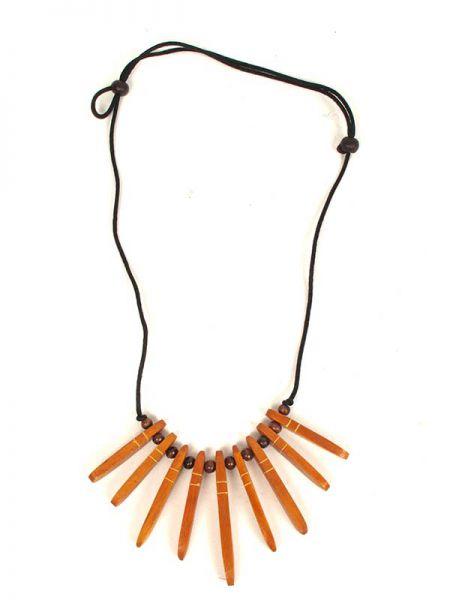 Collar etnico madera decorada cordón regulable Comprar - Venta Mayorista y detalle