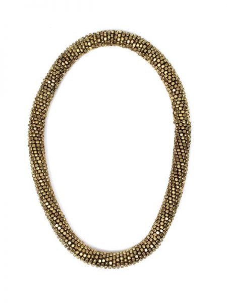 Collar dorado grueso y flexible. collar elástico realizado con pequeños para Comprar al mayor o detalle