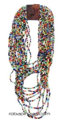 Collar multivueltas de cuentas de colores Comprar - Venta Mayorista y detalle