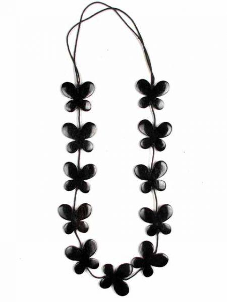 Collar largo mariposas de madera lacadas Comprar - Venta Mayorista y detalle