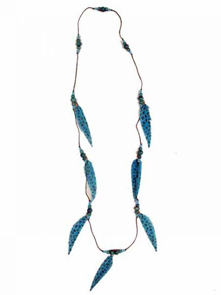 Collar largo plumas decoradas para Comprar al mayor o detalle