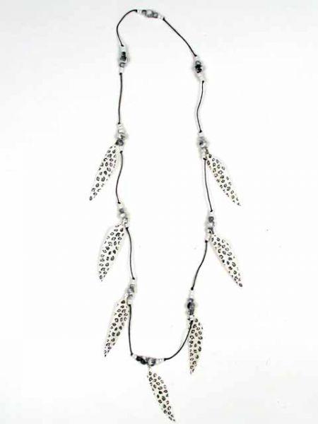Collares Hippie Étnico - Collar largo plumas decoradas COPA09 para comprar al por Mayor o Detalle en la categoría de Bisutería Hippie Étnica Alternativa