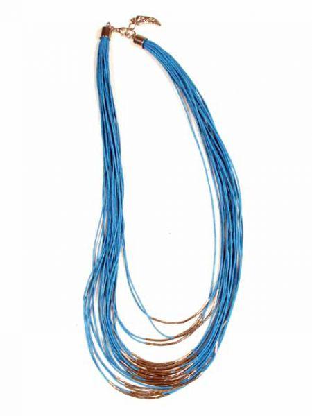 Collares Hippie Étnico - Collar étnico cordón multi vuelta decoración plata [COPA11] para comprar al por mayor o detalle  en la categoría de Bisutería Hippie Étnica Alternativa.
