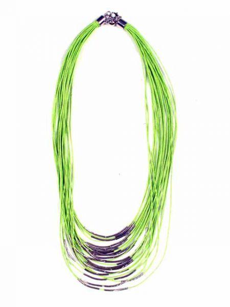 Collar étnico cordón multi vuelta decoración plata Comprar - Venta Mayorista y detalle