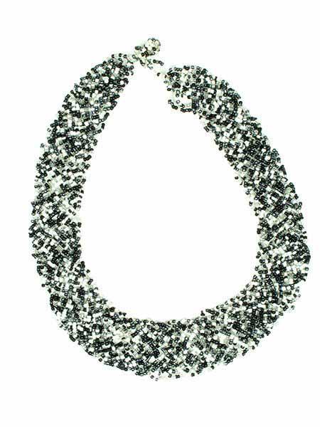 Collares Hippie Étnico - Collar multi cuentas ancho trenzado [COPA12] para comprar al por mayor o detalle  en la categoría de Bisutería Hippie Étnica Alternativa.