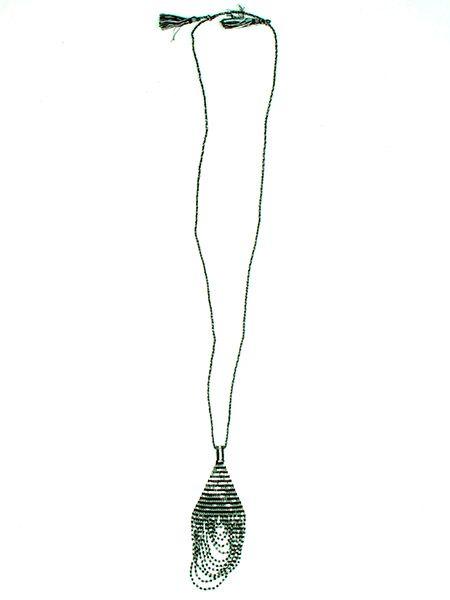 Colgante cuentas japonesas brillante en colore oro y plata colla largo Comprar - Venta Mayorista y detalle