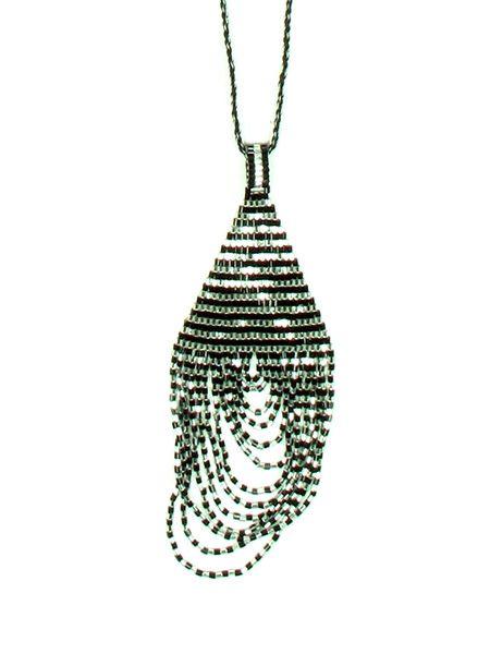 Collares Hippie Étnico - Colgante cuentas japonesas silver oro [COPA13] para comprar al por mayor o detalle  en la categoría de Bisutería Hippie Étnica Alternativa.