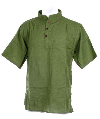Camisa hippie algodón para chico, con cuello mao y tres botones de [CSHC02] para Comprar al mayor o detalle