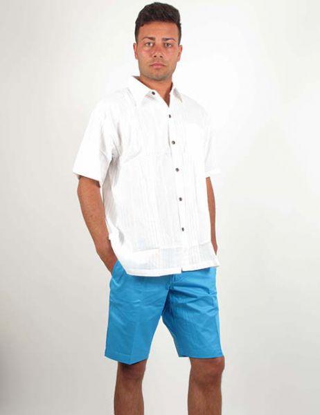 Camisa de algodón con cuellos pico y botones de coco, bolsillo Comprar - Venta Mayorista y detalle