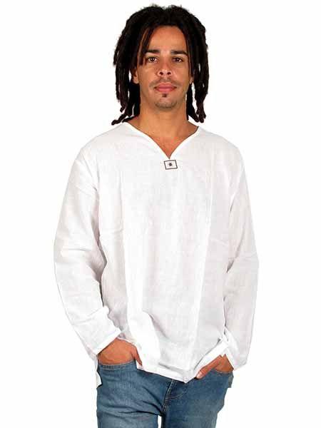 camisa de algodón finito y manga larga con cuello en Comprar - Venta Mayorista y detalle
