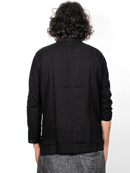 camisa de algodón finito y manga larga con cuello mao Comprar - Venta Mayorista y detalle