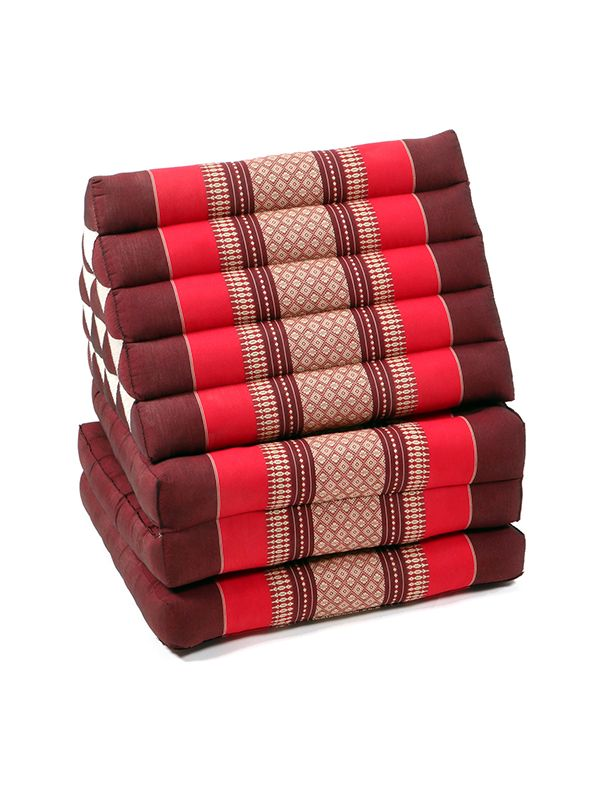 Colchoneta Thai Kapok almohada triangular - Rojo Comprar al mayor o detalle