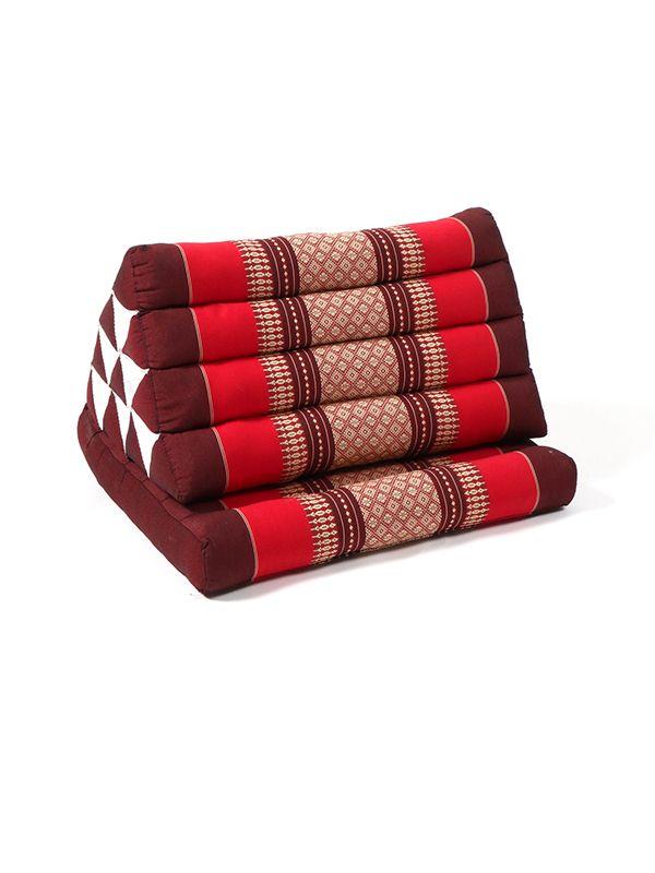 Cojín Thai Kapok almohada triangular - Rojo2 Comprar al mayor o detalle