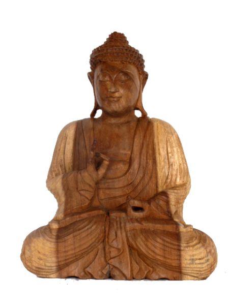 Figura Buda tallada en madera de teca Comprar - Venta Mayorista y detalle