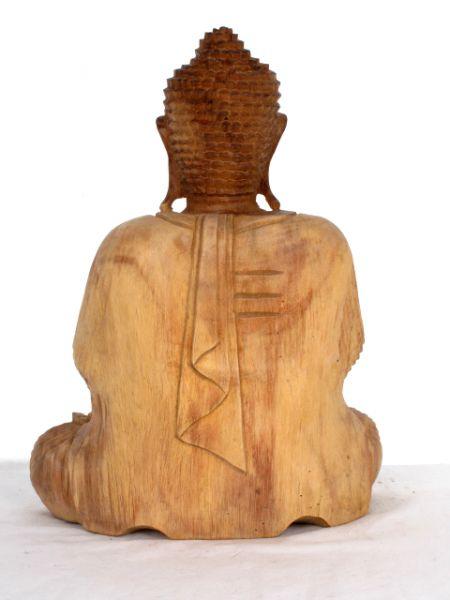 Figura Buda tallada en madera de teca, alto 30 cm Comprar - Venta Mayorista y detalle