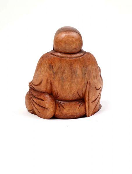 Decoración Etnica - Figura Happy Buda tallada DBI13.