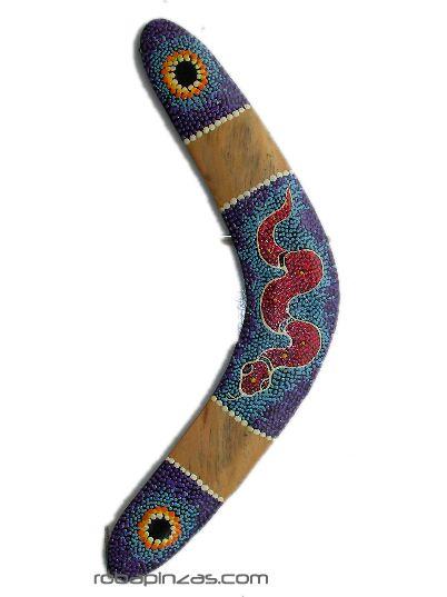 Decoración Etnica - Boomerang madera decoración dot paint, boomerang realizado en maderas [DBOOM] para comprar al por mayor o detalle  en la categoría de Artículos Artesanales.