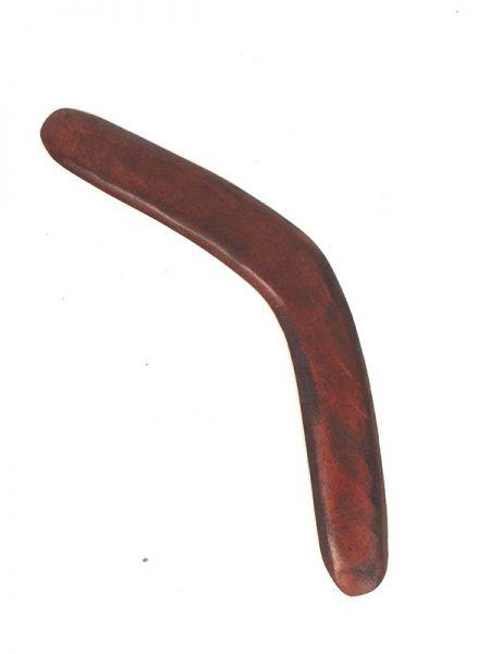 Boomerang realizado a mano en madera de sono, liso sin decoración. Comprar - Venta Mayorista y detalle