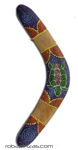 Boomerang madera decoración dot paint, boomerang realizado en maderas Comprar - Venta Mayorista y detalle