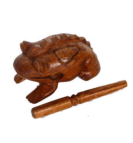 Rana sonora de madera. Pasando el pali por el lomo de la rana suena Comprar - Venta Mayorista y detalle