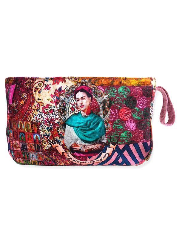 Bolsos Monederos Frida Kahlo  - Neceser Grande Estampados Frida Kahlo. [ESMEBA] para comprar al por mayor o detalle  en la categoría de Complementos Hippies Alternativos.