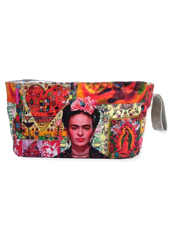Neceser Grande Estampados Frida Kahlo. ESMEBA para comprar al por mayor o detalle  en la categoría de Complementos Hippies Alternativos.