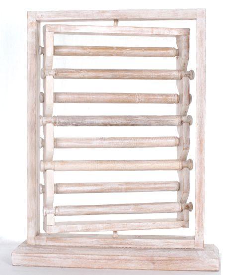 Expositores Madera - Expositor para anillos giratorio en madera con 8 rulos mediddas 40x30 [EXAN01] para comprar al por mayor o detalle  en la categoría de Artículos Artesanales.
