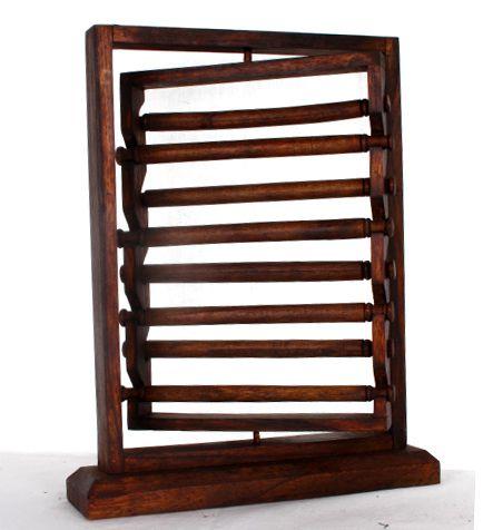 Expositor para anillos giratorio en madera con 8 rulos mediddas Comprar - Venta Mayorista y detalle