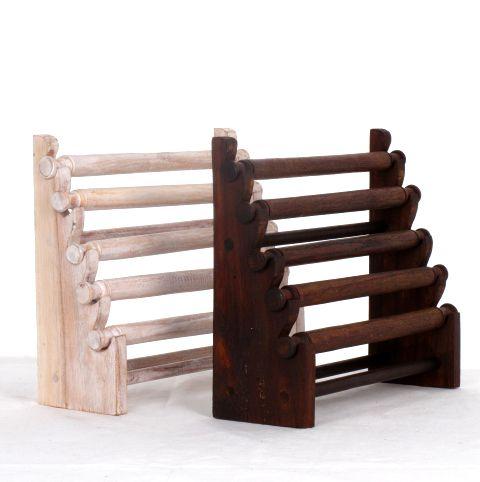 Excpositor de anillos en escalera con 5 rulos, medidas 24x20 cm - detalle Comprar al mayor o detalle