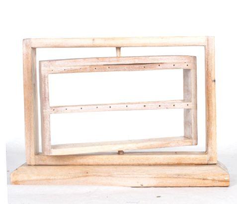 Expositores Madera - Expositor de pendientes giratorio con 2 filas en cada lado medidas: [EXPE02] para comprar al por mayor o detalle  en la categoría de Artículos Artesanales.