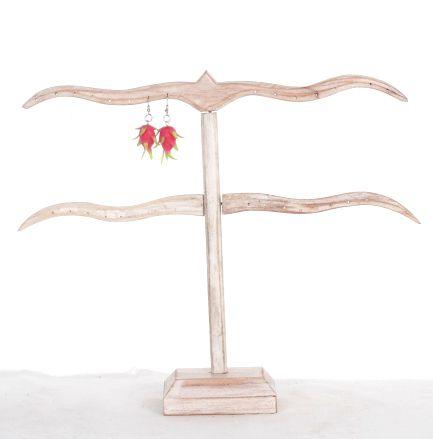 Expositor de pendientes tipo T de madera en dos colores Comprar - Venta Mayorista y detalle