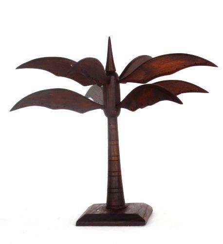 Expositores Madera - Expositor con forma de palmera para pendientes en madera. dos colores. [EXPE05] para comprar al por mayor o detalle  en la categoría de Artículos Artesanales.
