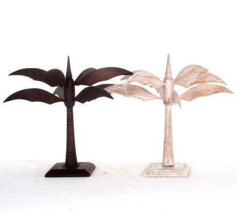 Expositor con forma de palmera para pendientes en madera. dos colores. 7 ramas - detalle Comprar al mayor o detalle